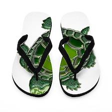 3D Textured Turtle Flip Flops