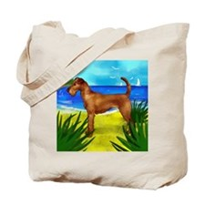 irishterrierbeach copy Tote Bag