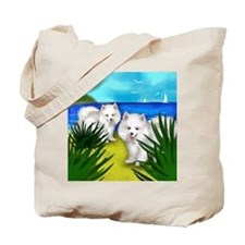 eskidogsbeach copy Tote Bag