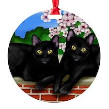blcatscherry copy Ornament