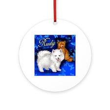 rudy 2copy Round Ornament