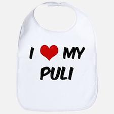 I Love: Puli Bib