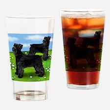 schnauzerblackloan copy Drinking Glass