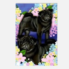 blackpugs copy Postcards (Package of 8)