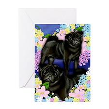 blackpugs copy Greeting Card