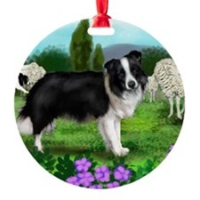 border collie3 copy Ornament