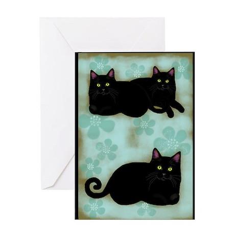 3blcats3 Greeting Card
