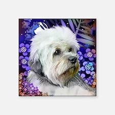 """dandie dinmont terrier copy Square Sticker 3"""" x 3"""""""