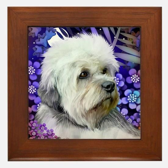 dandie dinmont terrier copy Framed Tile