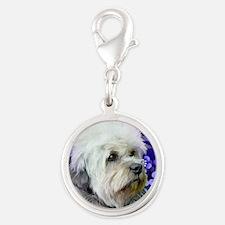dandie dinmont terrier copy Silver Round Charm