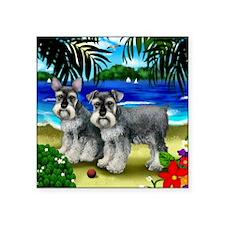 """schnauzerbeachdogs copy Square Sticker 3"""" x 3"""""""