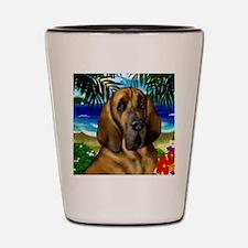 Bloodhoundbeach copy Shot Glass