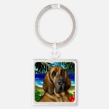 Bloodhoundbeach copy Square Keychain