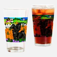 pugsblpump copy Drinking Glass
