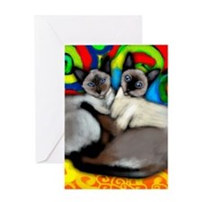 siamesecatsls copy Greeting Card