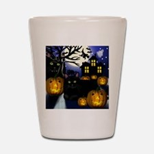 halloweencats copy Shot Glass