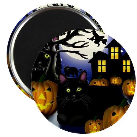 halloweencats copy Magnet