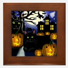 halloweencats copy Framed Tile