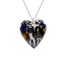 akitahalloween copy Necklace Heart Charm