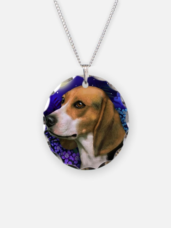 beagle6 copy Necklace Circle Charm