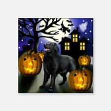 "flatcoastedhalloween copy Square Sticker 3"" x 3"""