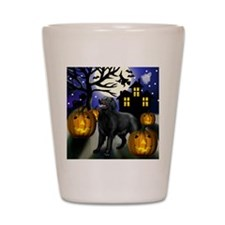 flatcoastedhalloween copy Shot Glass