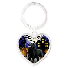 flatcoastedhalloween copy Heart Keychain