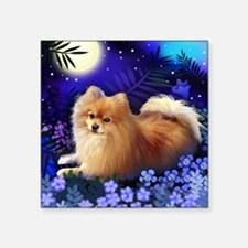 "pomeranianmoon copy Square Sticker 3"" x 3"""