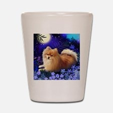 pomeranianmoon copy Shot Glass
