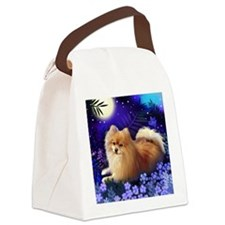 pomeranianmoon copy Canvas Lunch Bag