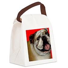 bulldog2 copy Canvas Lunch Bag