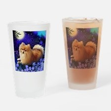 pomeranianmoon copy Drinking Glass