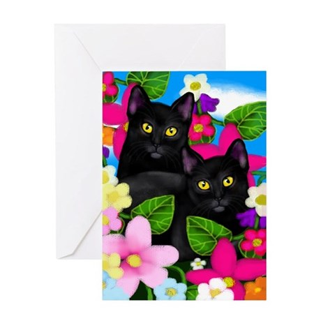 blcatsgardenlc copy Greeting Card