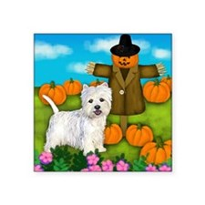 "Scarecrowwestie copy Square Sticker 3"" x 3"""