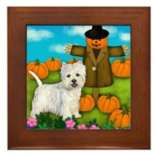 Scarecrowwestie copy Framed Tile