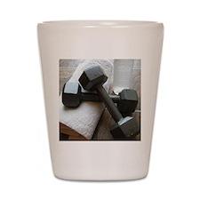 Fitness Gym Dumbells Shot Glass