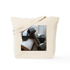 Fitness Gym Dumbells Tote Bag