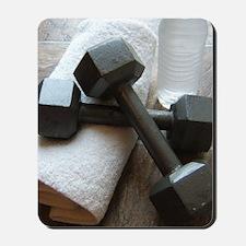 Fitness Gym Dumbells Mousepad