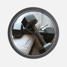 Fitness Gym Dumbells Wall Clock