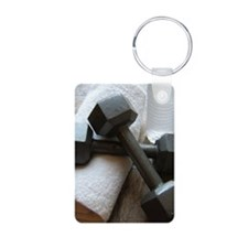 Fitness Gym Dumbells Keychains