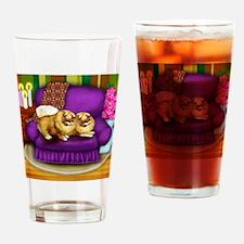 pomaraniansofa copy Drinking Glass
