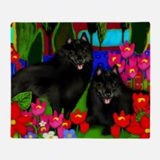 schipperke2print copy Throw Blanket