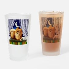 pomeranianwindowmoon copy Drinking Glass