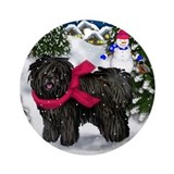 Puli christmas Round Ornaments