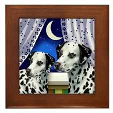 dalmatian window copy Framed Tile