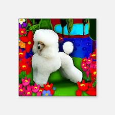 "toypoodlewhite copy Square Sticker 3"" x 3"""
