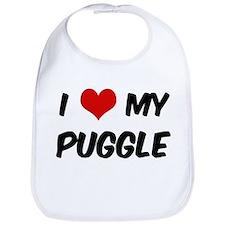 I Love: Puggle Bib