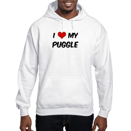 I Love: Puggle Hooded Sweatshirt