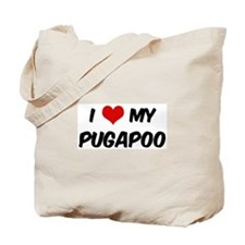 I Love: Pugapoo Tote Bag