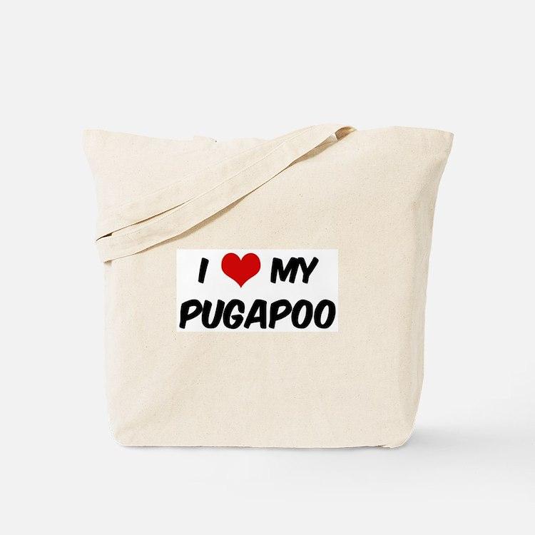 I Love: Pugapoo Tote Bag